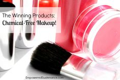 This lists the best natural/chemical-free makeup products that are also affordable (everything is under ten dollars)