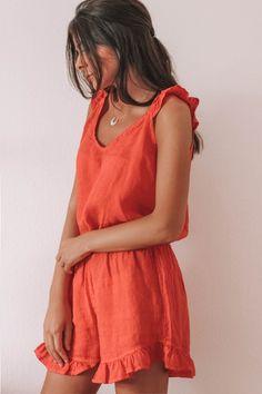 Mono lino Rojo – Azalea Moda Shop