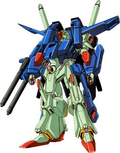 The FA-010S (FA-010B) Full Armor ZZ Gundam is a mobile suit that appears in Mobile Suit Gundam ZZ. It is an upgrade of the MSZ-010S Enhanced ZZ Gundam.