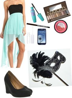 """Masquerade dance."" by imlexiexo ❤ liked on Polyvore"