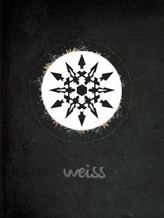 RWBY insignia: Weiss Rwby Anime, Rwby Fanart, Red Like Roses, White Roses, Rwby Symbols, Geeks, Rubin Rose, Rwby Wallpaper, Rwby Weiss