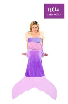 NEW! Ombre Adult/Teen Mermaid Blanket by Blankie Tails™ - Assorted Colors from Blankie Tails