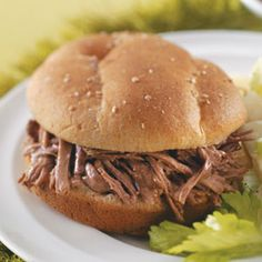 Shredded Beef au Jus Recipe...a few spices & your roast right into your slow cooker...no heating up the kitchen! When it's 105 outside, who wants to turn on an oven???