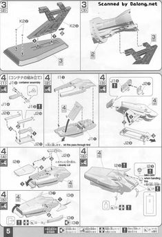 English Translation of Gundam Collection Ptolemaios Construction Manual Model Building, Gundam, Manual, Fonts, Palette, Construction, English, Colour, Collection