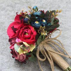 Rouge Soie artificielle Bouquets de mariée - (123106393)
