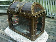 Custom Made Treasure Chest Fish Tank