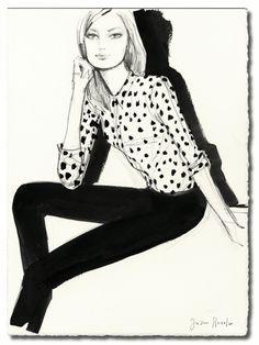 Fashion drawing ( Celine ) 2015