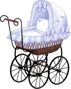 Baby Carriage Clip Art Images In Various Colours Clipart Baby, Cute Clipart, Vintage Diy, Vintage Cards, 2 Baby, Baby Art, Decoupage, Baby Images, Baby Pictures