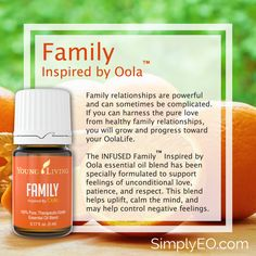 Family™ Inspired by Oola essential oil blend has been specially formulated to support feelings of unconditional love, patience, and respect.