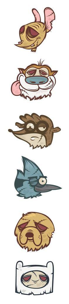 Cartoon Heroes on Behance