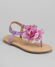 Take a look at this Chatties Lilac Blossom T-Strap Sandal by Blow-Out: Kids' Shoes on @zulily today!