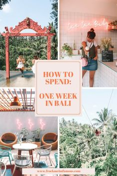 One Week In Bali: The ULTIMATE Route Guide How to spend one week in Bali; the ULTIMATE route guide including which areas to cover, where to stay, eat and what to do during your visit! Ubud, Lombok, New Travel, Asia Travel, Thailand Travel, Cambodia Travel, Travel Route, Travel Oklahoma, Wanderlust Travel