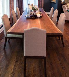 Living Wood Design, Custom Live Edge Dining Table