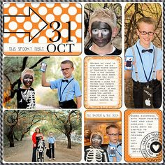 JessicaSprague.com Gallery - Halloween pg1- Project Life - Clementine kit & template by Becky Higgins