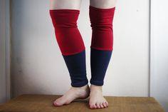 Organic Leg Warmers Fleece - Red + Multiple Color Options