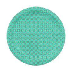 #Geometric Blue Paper Plates - #birthday #gift #present #giftidea #idea #gifts