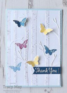 Woodland Embossing Folder from Stampin' Up! - Bedlam and Butterflies Inspiration for cards can strike anywhere. Check out this thank you card inspired by a kitchen make over on a home improvement TV programme! Cute Cards, Diy Cards, Your Cards, Tarjetas Stampin Up, Embossed Cards, Stamping Up Cards, Butterfly Cards, Sympathy Cards, Creative Cards