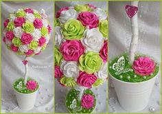 Diy Flowers, Floral Flowers, Flower Vases, Paper Flowers, Handmade Home Decor, Flourish, Floral Arrangements, Centerpieces, Shabby Chic