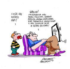 """ITALIAN COMICS - """"Il Mondo in una Vignetta"""" di Davide Ceccon: a proposito delle elezioni siciliane…"""