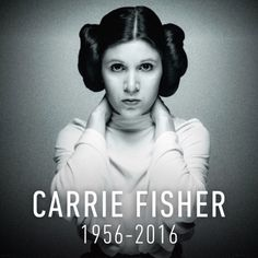 """starwars: """"""""Carrie holds such special place in the hearts of everyone at Lucasfilm it is difficult to think of a world without her. She was Princess Leia to the world but a very special friend to all of us. She had an indomitable spirit, incredible..."""