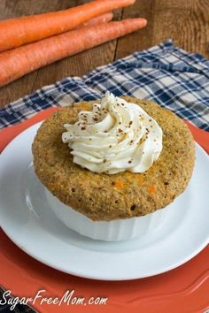 Sugar-Free Carrot Cake Mug Cake - That looks like a substantial cake for one!