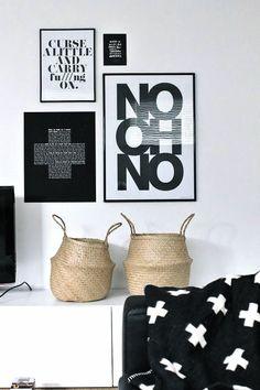 Via Gau Paris   Black and White   Formelle Print   Pia Wallen Blanket