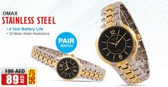 AED 89/- only! Omax Watch for Men & Women, HBJ975NH02/HBJ976NH02  Buy NOW>>> awok.co/Re9rtP