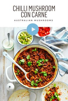 Chilli Con Carne just got a whole lot healthier and tastier by adding mushrooms. Watch Video.