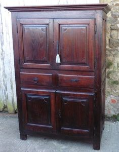 17th Cen French Fruitwood Housekeepers Cupboard - Antiques Atlas