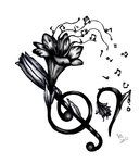 Lilly and Music Tattoo Design by ~girfreak8 on deviantART