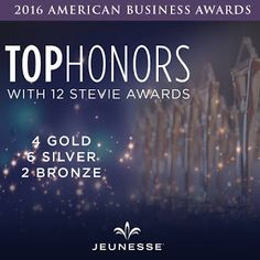 Jeuness Global - Anti-Aging Skincare, Supplements & Nutrition Products: The prestigious 2016 American Business Awards have.