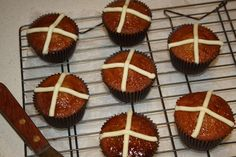 These cupcakes have all the flavour and spice of a traditional hot cross bun but are quicker to make yet still just as yummy!