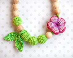Nursing Breastfeeding necklace - teething toy - nursing jewellery - Wrap Baby Carrier Sling Accessory
