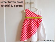 sweet tartan dress tutorial and pattern by skirt as top