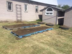 Pallet garden for one of our clients!