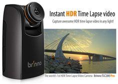 Brinno TLC200 Pro captures time lapse HDR images, sports interchangeable lenses