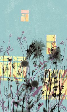 Illustrations for the poetry by BorisTulin by Victoria Semykina, via Behance part 2