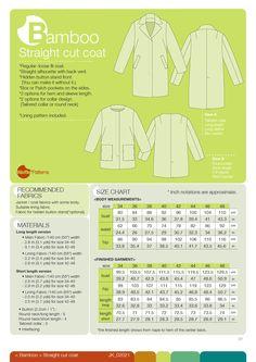 Waffle Patterns pdf sewing patterns Straight cut Bamboo. PDF 12.50€