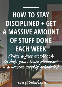 How to Stay Disciplined and get a Massive Amount of Stuff Done! - It's one thing to load your to-do list with exciting projects and ideas, but quite another to actually accomplish that massive amount of stuff! Business Tips, Online Business, Business School, Business Opportunities, Creative Business, Blogging, Productivity Hacks, Increase Productivity, Time Management Tips