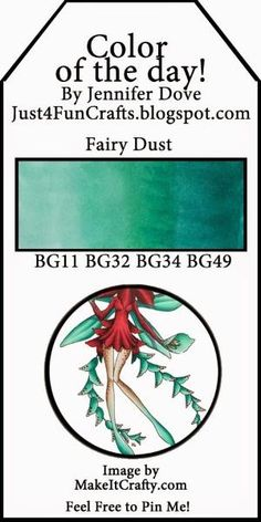 Just4FunCrafts and DoveArt Studios: Color of the Day 175 by lindsey
