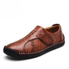 84224c53f5e Men British Style Retro Stiching Soft Sole Lace Up Flat Cap-toe Shoes -  NewChic Mobile