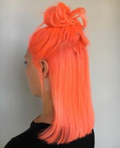 """LA/ENCINO Colorist   Hair on Instagram: """"  NEON PEACH PT DEUX    Here's another look at this intense hair using @pulpriothair new neons colors in LAVA + CANDY. Remember ladies…"""""""