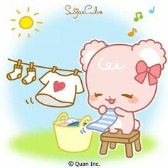 Cartoon Stickers, Love Stickers, Bear Emoticon, Cute Disney Characters, Sugar Bears, Cute Love Gif, Cute Love Cartoons, Couple Cartoon, Cute Chibi