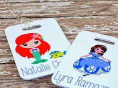 Set of 2 Personalized Princess Bag Tags by Purely Personalized | Hatch.co