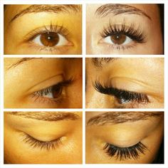 Before & After Eyelash Extensions www.facebook.com/karmalashes