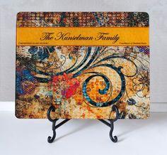Personalized Cutting Board Custom Glass Cutting Board by DeskCandy