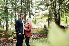 Our backyard in Mississippi Mills, ON is the perfect woodland for a romantic session Fall Engagement, Engagement Session, Engagement Photos, Early Autumn, Photo Location, Mississippi, Woodland, Backyard, Romantic