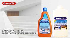 berill-καθαριστικό και γυαλιστικό για λευκά μάρμαρα-υγρό - Καθαριστικά προϊόντα berill και foamill οικιακής και επαγγελματικής χρήσης Spray Bottle, Cleaning Supplies, Household, Soap, Cleaning Agent, Bar Soap, Soaps, Airstone