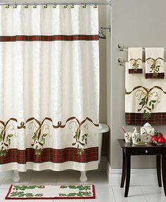 Lenox Bath Accessories, Holiday Nouveau Shower Curtain Hooks, Set Of 12    Shower Curtains