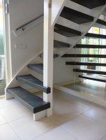 Open trap renovatie door Wolfs Traprenovatie met #lumigrip RVS leuning #Mill #Noordbrabant Open Trap, Stairways, Sweet Home, Living Room, Happy, Home Decor, Stairs, Staircases, Decoration Home